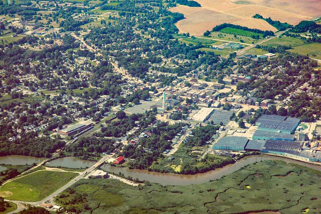 Aerial view of Salem