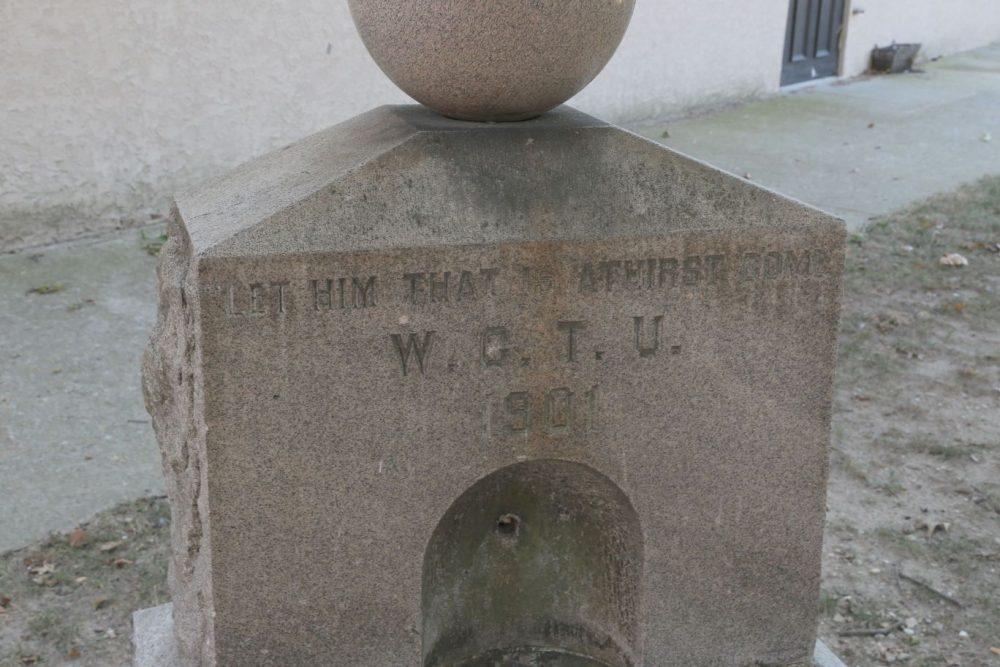 WCTU Water Fountain made of stone