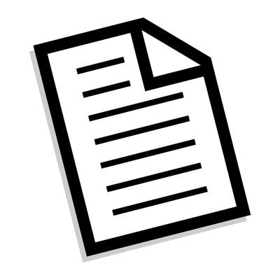 Piece of paper vector
