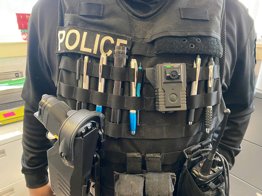 Police Officer with body cam